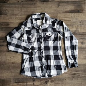 Thread & Supply Long Sleeve Checkered Button Up